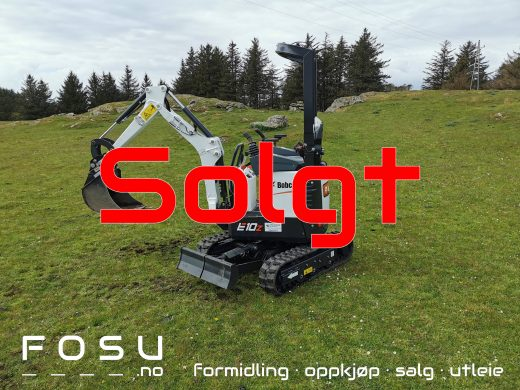 New Bobcat E10Z compact excavator sold by FOSU